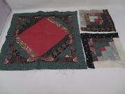 3 Matching Quilt Blocks Diamond And Log Cabin 1 Large 2 Small
