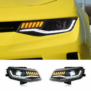 For Chevrolet Camaro 14-15 Led Headlights Projector Led Drl Replace Oem Halogen