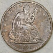 1861 O Liberty Seated Half Dollar Extremely Rare Wb—102/fs—401 Obv Csa Die Crack