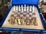 20 Marble Onyx Chess Set With 3.5' Pieces Handmade Arts Playing Game Gifts H013