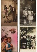 Boys And Girls Children Glamour Real Photo 600 Vintage Postcards L2968