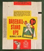 1964 Topps Baseball Stand Ups Wrapper One Cent 1c  No Rips Or Tears