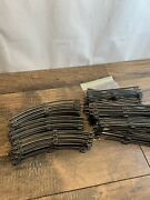 Lionel Postwar O Gauge, Lot Of 19 Straight 8 Curved Track Sections Stamped Ny E2