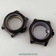 Fully Black 40mm Watch Case Parts Fit For Nh35 Eta2836 Miyota8215 Sapphire Glass