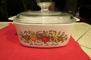Vintage Corning Ware A-1 1/2-b Spice Of Life 1 1/2 Quart Covered Casserole