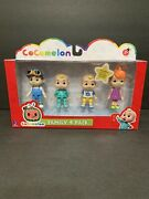 Cocomelon Family And Friends Jj Tomtom Yoyo Play Set Toy Kids 4 Pack Fast Ship