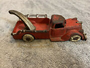 Rare Vintage Hubley Toy Usa Cast Iron Red Tow Truck 2236