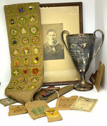 Boy Scout Archive 1925-1931 Troop 159 Baltimore Eagle Medal And Badge Sash Patches