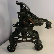 Rare F.e. Myers And Bro Cast Iron Sure Grip Hay Trolley Unloader Excellent