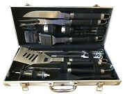 Grilljoy 24pc Bbq Grill Tools Set With Meat Thermometer And Injector