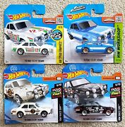 Hot Wheels Ford Escort Rs1600 Lot Of 4 Short Cards