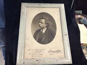 Facsimile Photo Signed By Edvard Hagerup Grieg 1905 Norwegian Composer