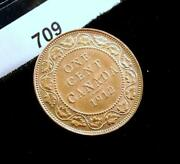 1912 Canada Large One Cent Coin 709