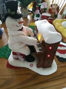 Hallmark Jingle Pals Singing Snowman Piano Lights Up Plays Music But Not Moving
