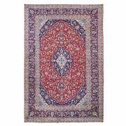 8and0393x12and0395 Semi Antique Farsian Kishoon Full Pile Wool Hand Knotted Rug R59720