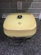 Vintage Retro Ge Electric Buffet Skillet W/ High Dome Lid Yellow Model C127hrt