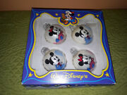 Vintage The Walt Disney Company Christmas Tree Glass Ornaments Made In Germany