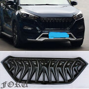 For 2016 17 2018 Hyundai Tucson Grill Facelift Cover Exterior Grille Gloss Black