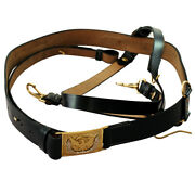 American Civil War Union Officers Leather Sword Belt With Eagle Square Buckle