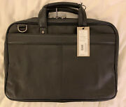 """Kenneth Cole Reaction Genuine Leather Laptop Case 17""""x12"""" Nwt Msrp 360"""