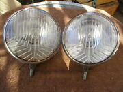 1930and039s - 1940and039s Approx. 7 Inch Auteroche Script Bulb Reflector Type Headlights