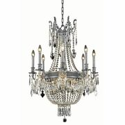 Crystal Pewter French Empire Living Dining Room Chandelier Fixture 12 Light 37