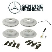 Genuine Front And Rear Disc Brake Rotors Pads And Sensors Kit For Mercedes W163