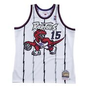 Toronto Raptors Vince Carter Mitchell And Ness White Nba 1998-99 Authentic Jersey