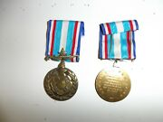 E4496 France Korean War Service Medal French Un United Nations Ir18t21