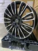 4 New 22 Range Rover Wheels Gloss Black And Machined Land Rover Replica