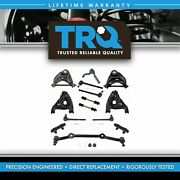 Trq 14pc Steering And Suspension Kit Control Arms Tie Rods End Links Center Link