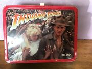1984 Indiana Jones Metal Lunchbox By Thermos Vintage Lunch Box With Thermosandnbsp