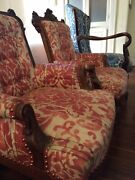 Pair Of Antique Armchairs Hand-carved Walnut Renaissance Revival 1860s-1870s