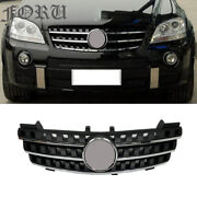 W164 Black Grill Grille Cover For Benz Ml-class Ml320 Ml350 500 Ml550 05-08
