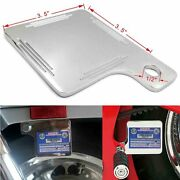 Universal Aluminum Motorcycle Inspection Sticker Plate 3.53.5 For Harley Chrome