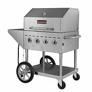 Sierra Srbq-30 49 Outdoor Gas Grill, 4 Stainless Steel Tube Burners