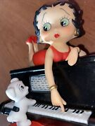 New Vtg Rare Love Betty Boop On Piano And W/ Her Dog San Francisco Music Box