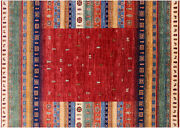 5' 8 X 7' 10 Hand Knotted Tribal Gabbeh Rug - Q5913