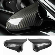 Fit Rearview Mirrors Cover Cap Carbon Fiber For Bmw M3 F80 M4 F82 F83 2014-2019