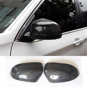 Fit Rearview Mirrors Cover Cap Carbon Fiber For Bmw X3 F25 X4 F26 2014-2018
