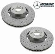 Genuine Front Set Left And Right Brake Disc Rotor For Mercedes W205 R231 Amg Gt 63