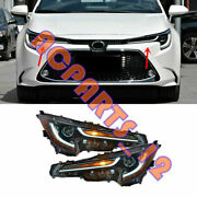 1 Pair All Led Front Headlight Housing For Toyota Corolla 2020-2021