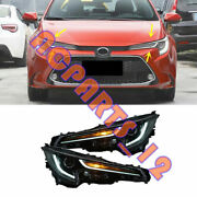 1 Pair Top Quality All Led Front Headlight Housing For Toyota Corolla 2020-2021