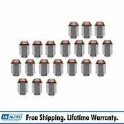 Wheel Lug Nut Cap Style Kit Set Of 20 For Chevy Gmc Ford Lincoln Mercury