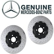 Genuine Front Left And Right Brake Disc Rotors Set Floated For Mb R190 W204 R230