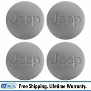 Oem 5ht59pakac Wheel Hub Center Cap Silver Left Right Set Of 4 For Jeep New