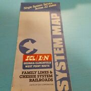 Family Lines And System Railroads System Map 1980