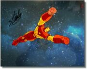 Iron Man Hand Signed Stan Lee New Hand Painted Original Production Cel Coa
