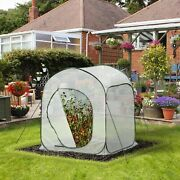 Outsunny 3and039 X 3and039 X 4and039 Portable Pop Up Greenhouse With Side Door And Zipper Bag
