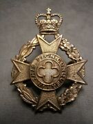 Royal Canadian Army Chaplain Corps Post Wwii Cap Badge Rcachc Q74 Silver Variant